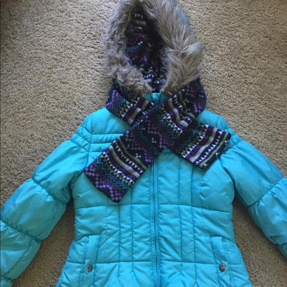 233343fa2 London Fog Jackets & Coats   Girls Puffer Jacket Coat With Scarf ...